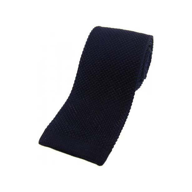 Dark Navy Knitted Silk Tie