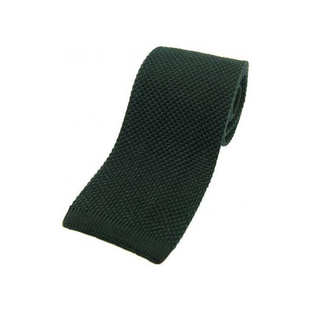Racing Green Knitted Silk Tie