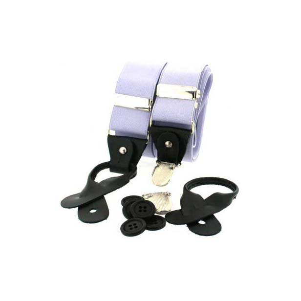 Lilac Leather End Braces