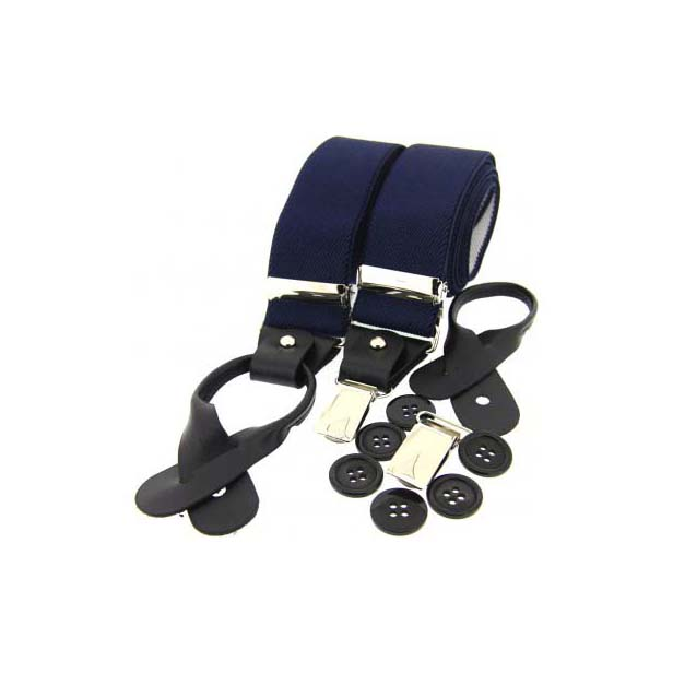 Navy Leather End Braces