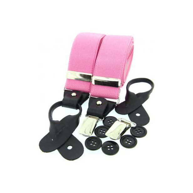 Pink Leather End Braces