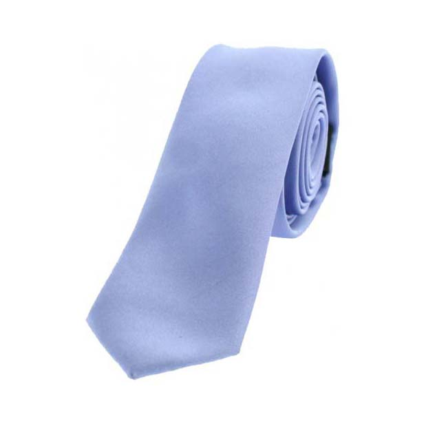 Lilac Satin Polyester Thin Tie