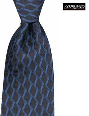 Frosted Navy Blue Chain Tie