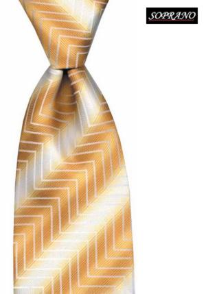 Yellow Zig Zag Tie