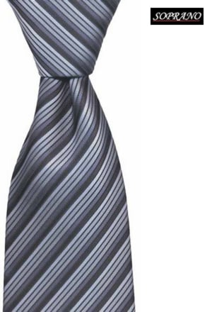 Grey Thin Striped Tie