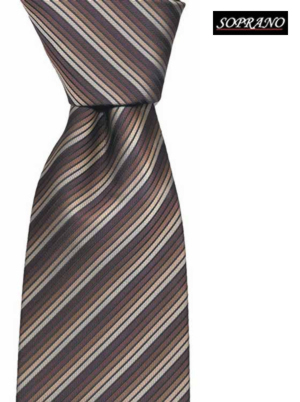 Brown Thin Striped Tie
