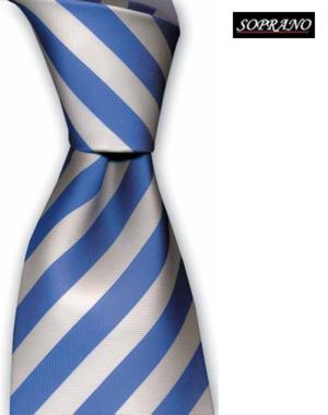 Schoolboy Sky White Striped Tie
