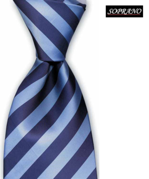 Schoolboy Navy Ice Striped Tie