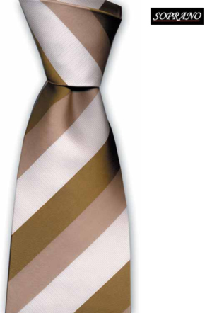 Savanna Beige Striped Tie