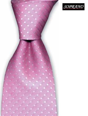 Pink Pin Dot Tie