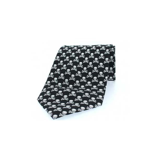 Skull and Cross Bones Novelty Silk Tie