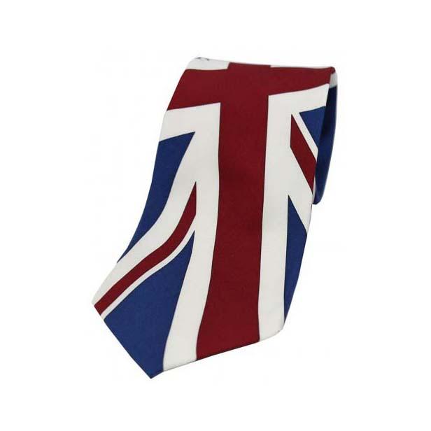 Union Jack Print Silk Tie