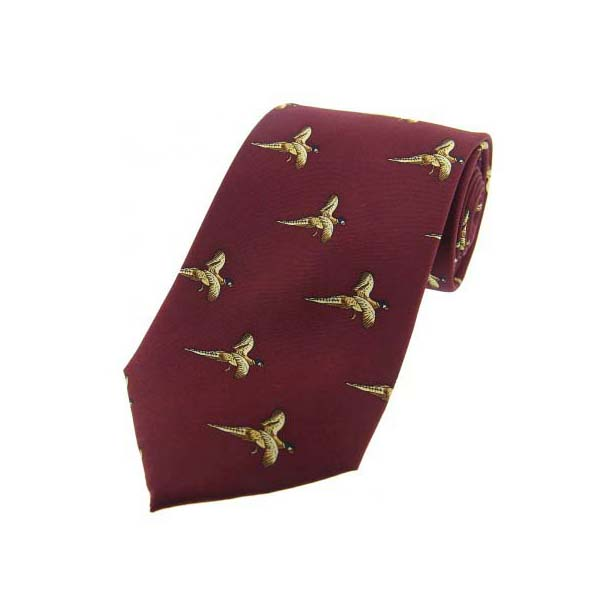 Flying Pheasant On Wine Country Silk Tie