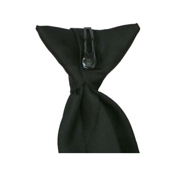 Black Woven Polyester Clip On Tie