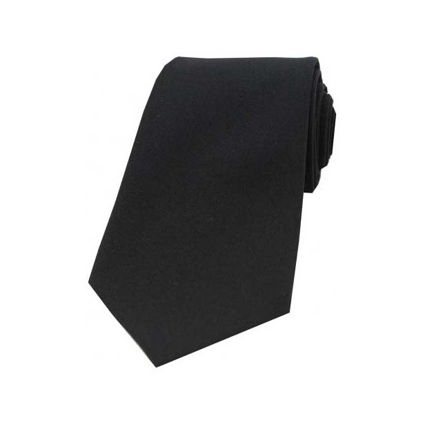 Black Woven Polyester Tie