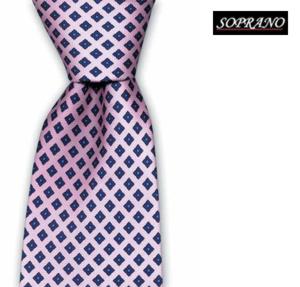 Neat Pink Flower Tie