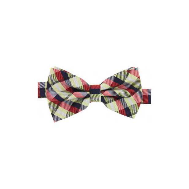 Tartan Check Woven Silk Bow Tie