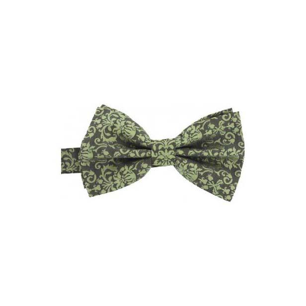 Edwardian Style Tone On Tone Camel Woven Silk Bow Tie