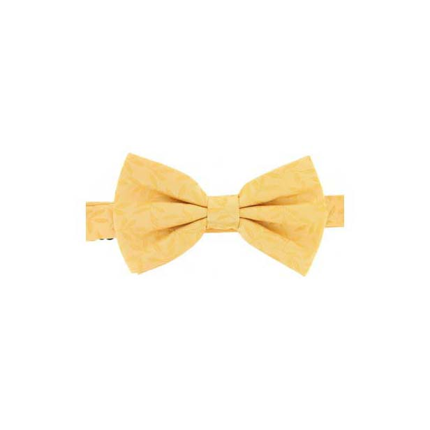 Golden Yellow Tone on Tone Woven Silk Bow Tie