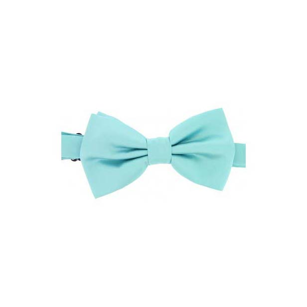 Cyan Satin Silk Luxury Bow Tie