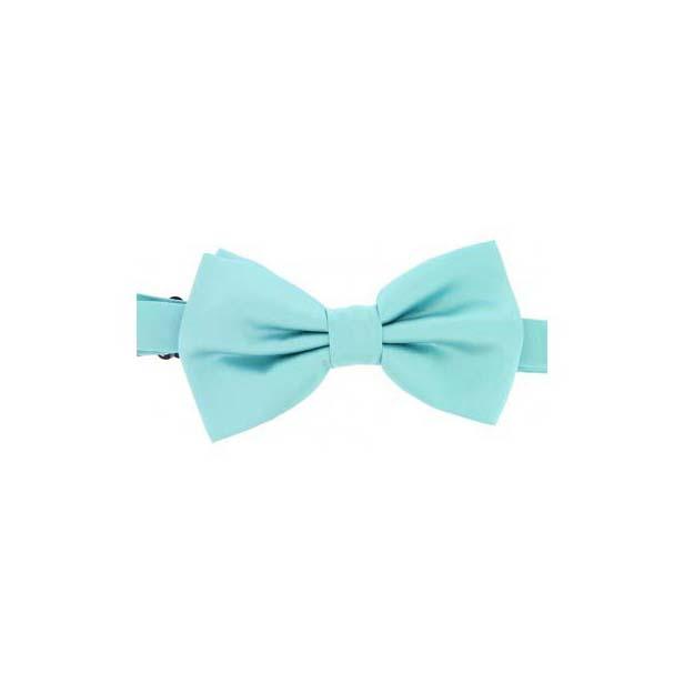 Cyan Satin Silk Luxury Bow Tie