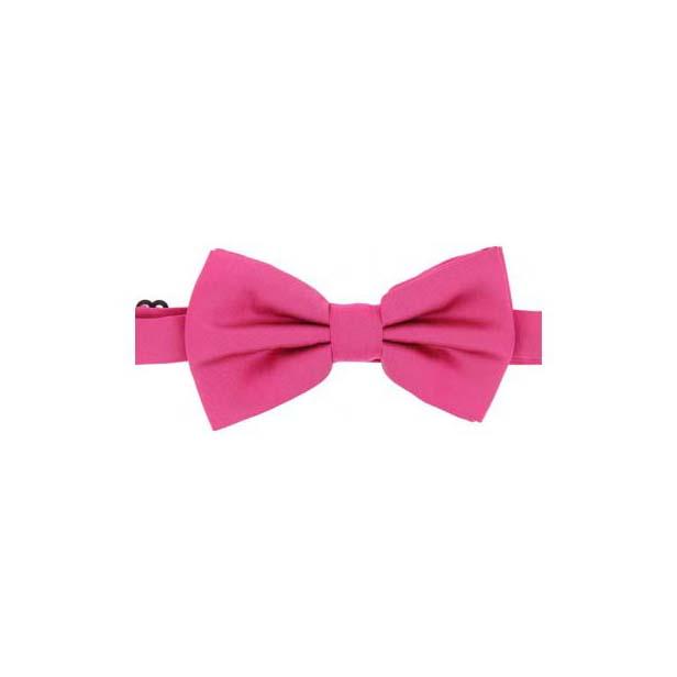Fuchsia Satin Silk Luxury Bow Tie