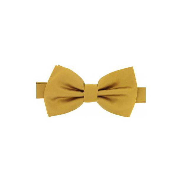 Gold Satin Silk Luxury Bow Tie