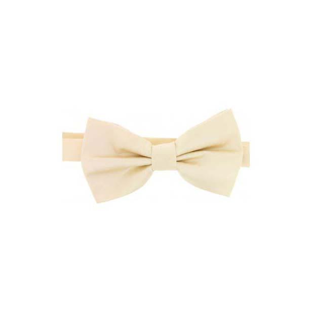 Ivory Satin Silk Luxury Bow Tie