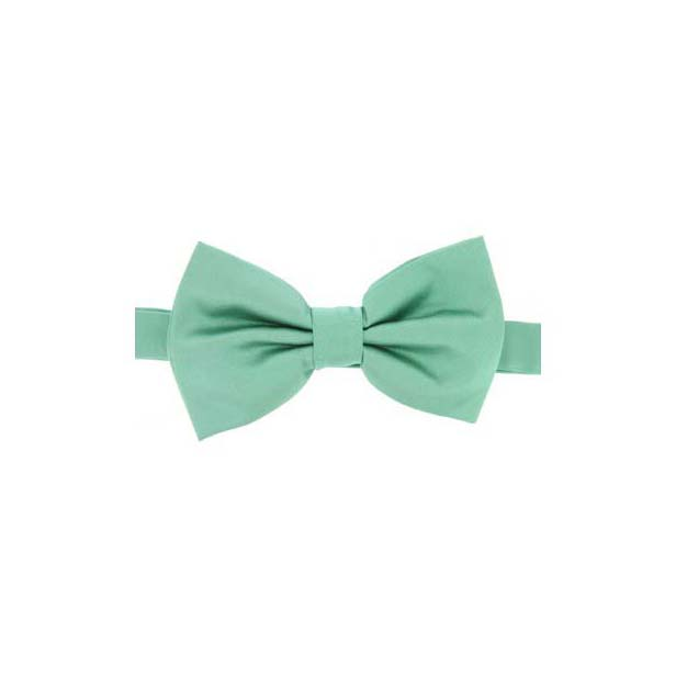 Mint Satin Silk Luxury Bow Tie