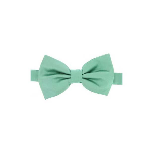 Mint Satin Silk Luxury Bow Tie