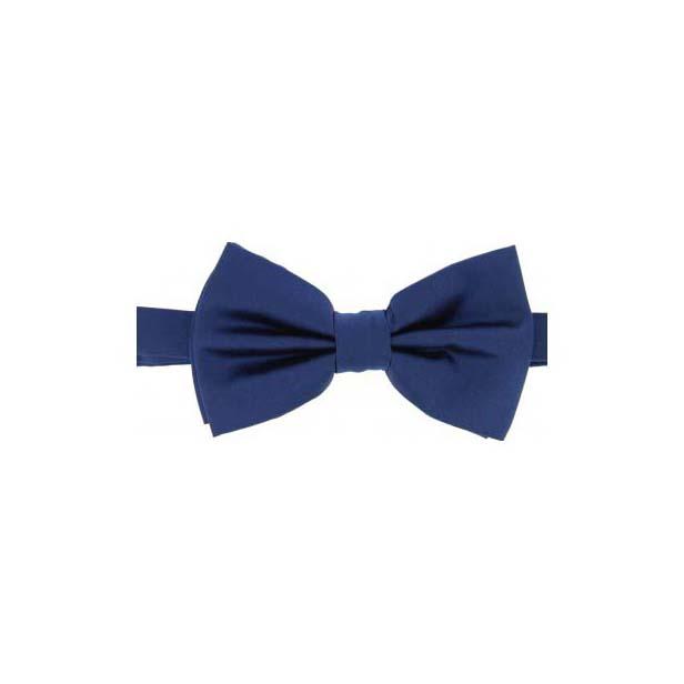 Navy Satin Silk Luxury Bow Tie