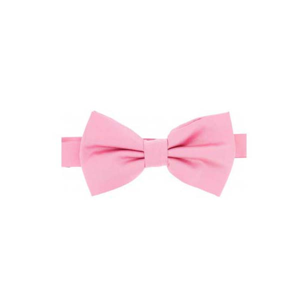 Pink Satin Silk Luxury Bow Tie