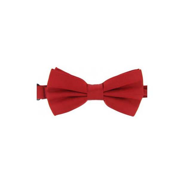 Red Satin Silk Luxury Bow Tie
