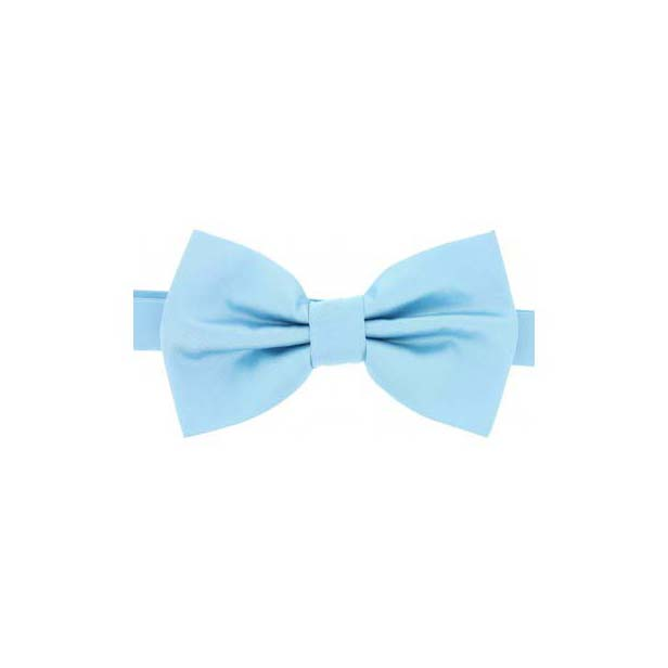 Sky Blue Satin Silk Luxury Bow Tie