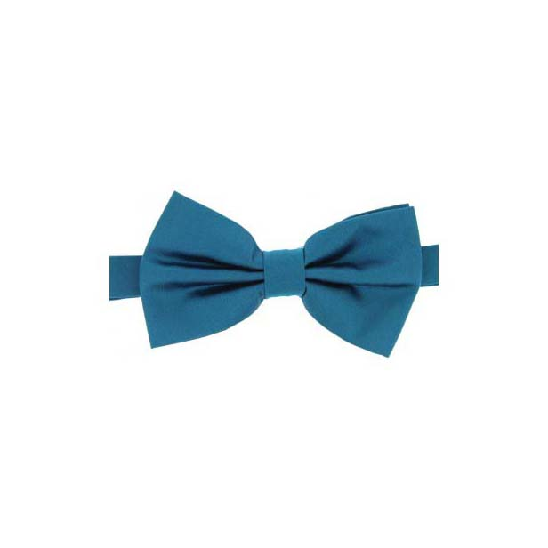 Teal Satin Silk Luxury Bow Tie