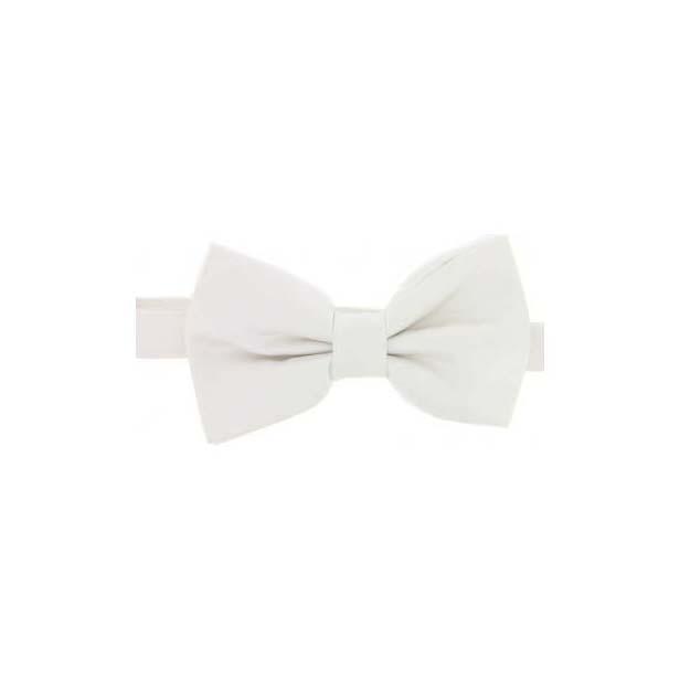White Satin Silk Luxury Bow Tie