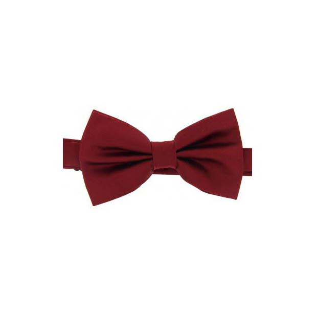 Wine Satin Silk Luxury Bow Tie
