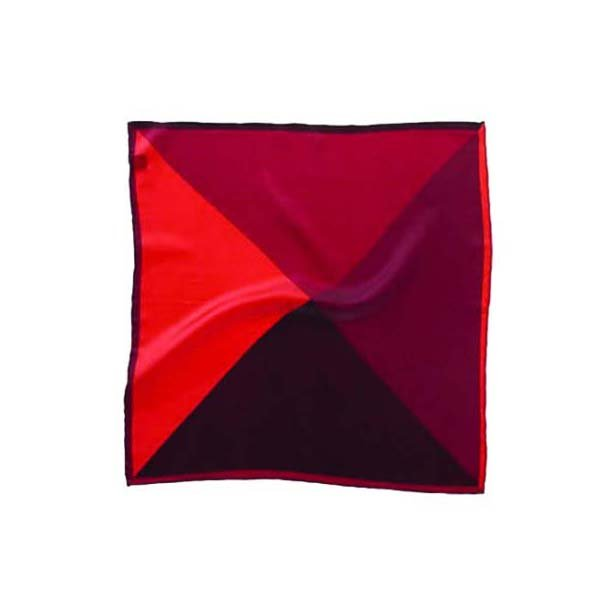 Red Mix Silk Pocket Square