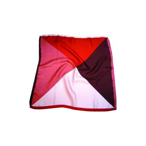 Red and Pink Mix Silk pocket Square