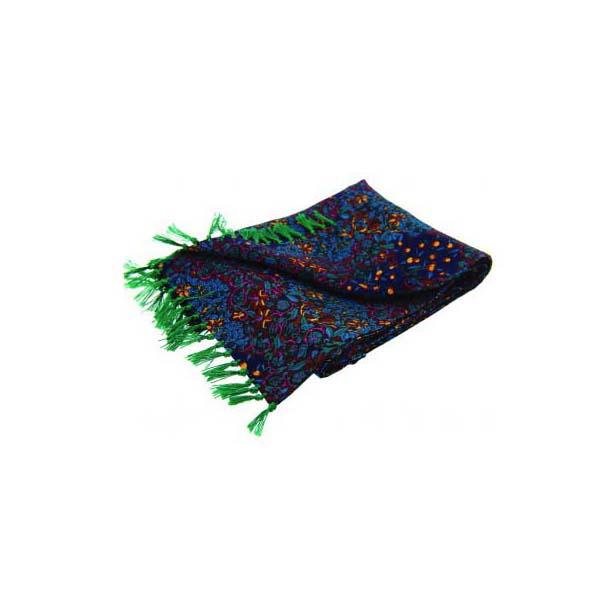 Plum Edwardian-Inspired Orchard Print Silk Aviator Scarf