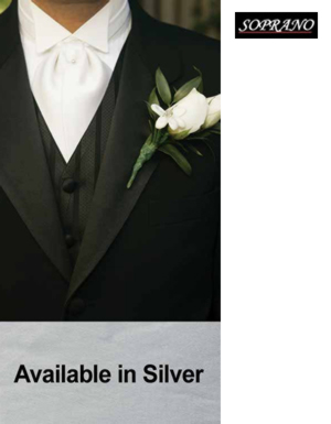 Silver Self Tie Wedding Cravat
