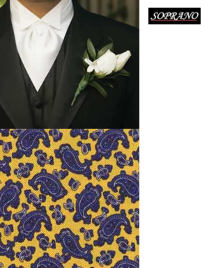 Small Paisley Yellow Cravat
