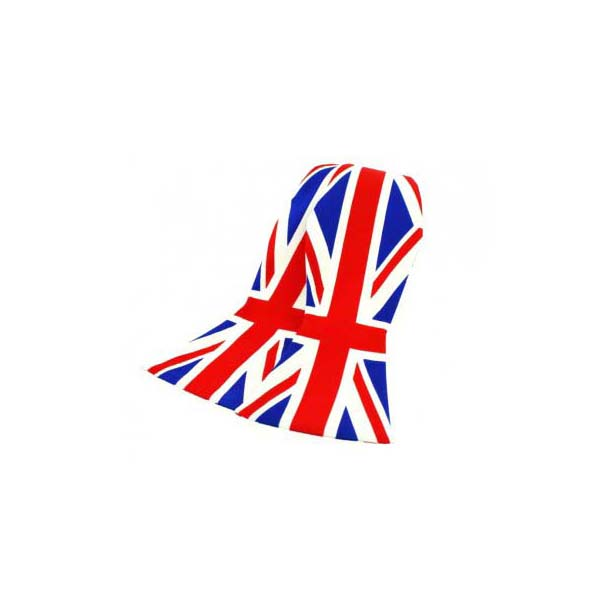 Union Jack Print Silk Self Tie Bow Tie