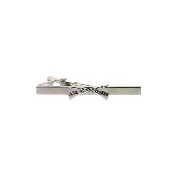 Shotgun Symbol Silver Coloured Country Tie Bar