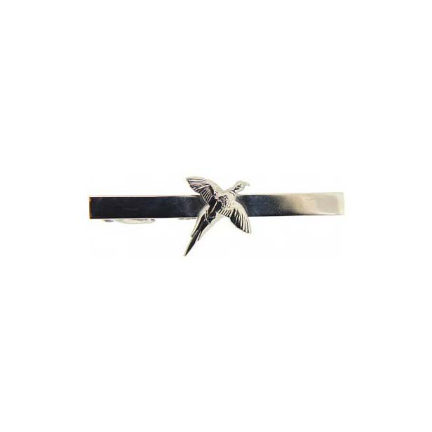 Pheasant Symbol Silver Coloured Country Tie Bar