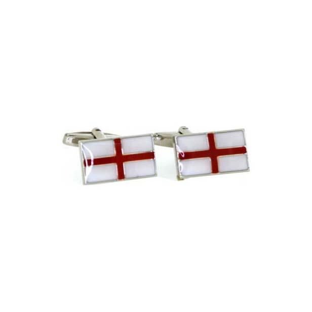 St George Flag Enamelled Cufflinks