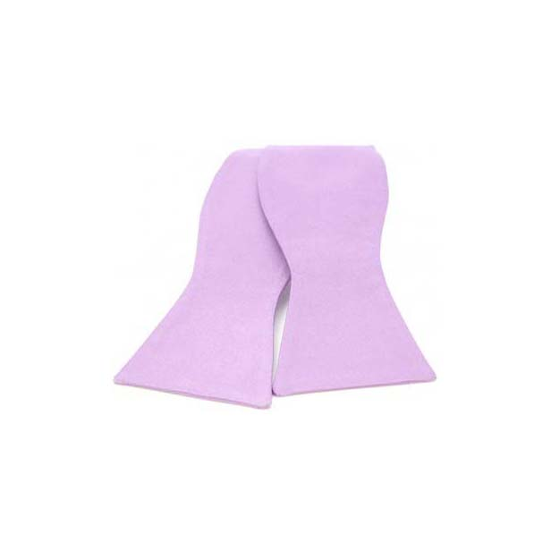 Light Lilac Satin Silk Luxury Self Tied Bow Tie