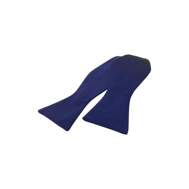 Navy Satin Silk Luxury Self Tied Bow Tie
