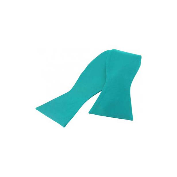 Turquoise Satin Silk Luxury Self Tied Bow Tie