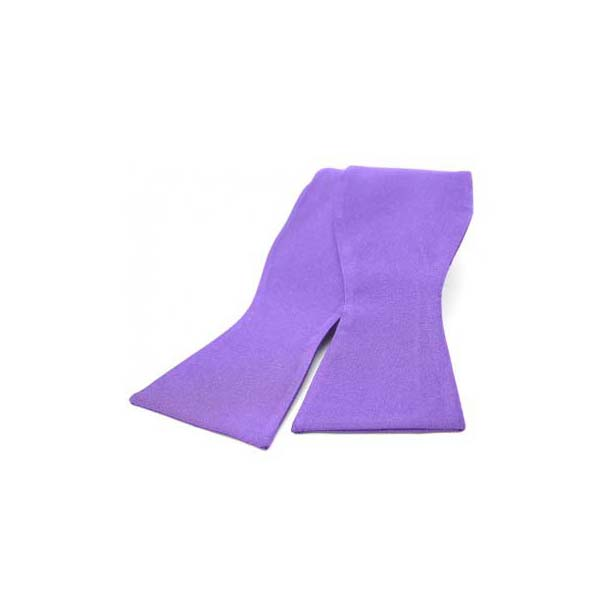 Purple Satin Silk Luxury Self Tied Bow Tie